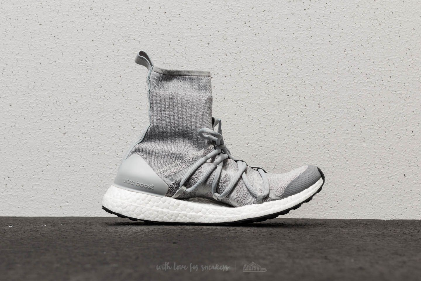 reputable site a4431 dcd46 adidas x Stella McCartney Ultraboost X Mid Stone Core White Eggshell Grey  at a