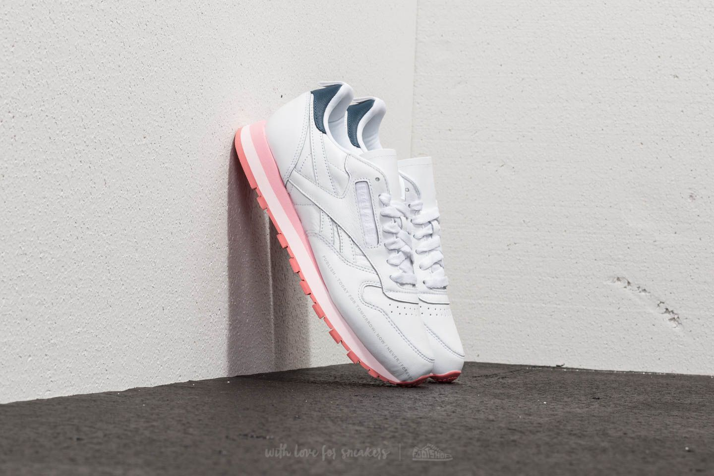 Reebok x Publish Classic Leather White/ Steel/ Porcelian Pink