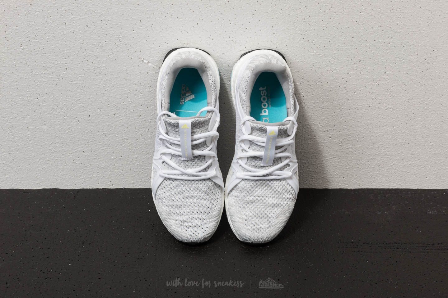 adidas x Stella McCartney Ultraboost Parley Stone  Core White  Mirror Blue  at a great 17d40fe8a9159