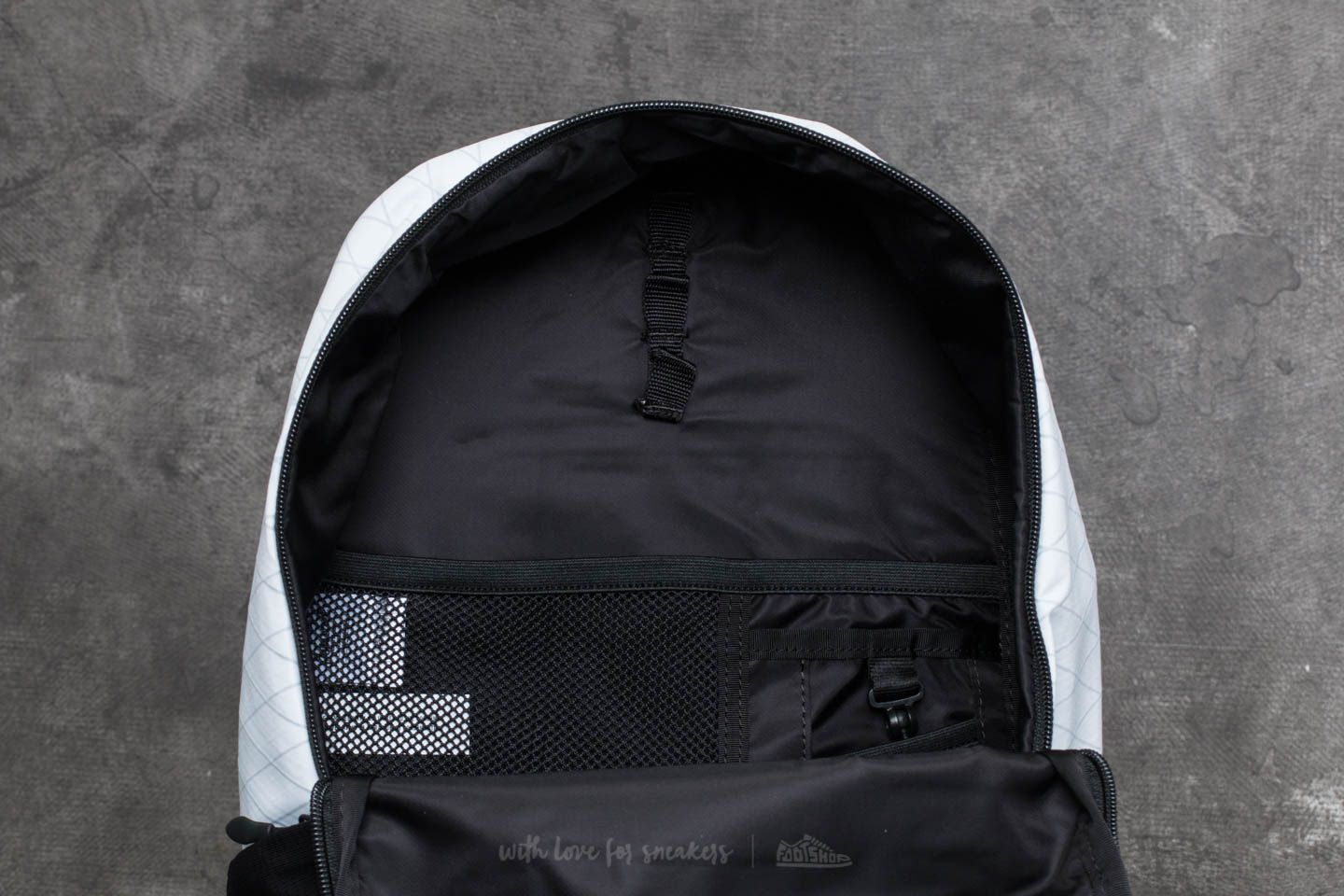 Herschel Supply Co. Mammoth Medium Backpack White  Black at a great price  £77 a942d9571cebb