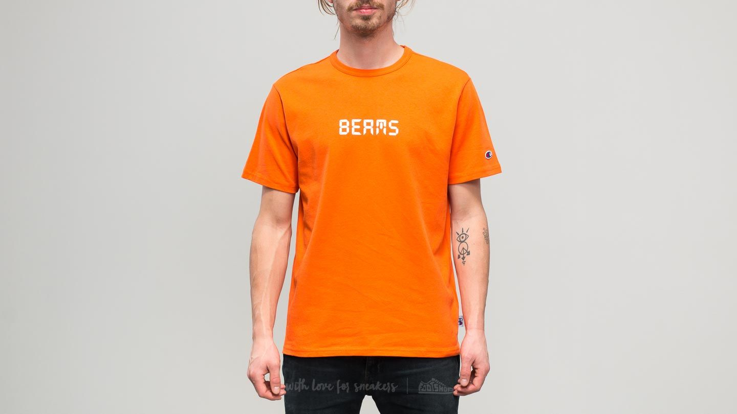 1ea72ed58a2c Champion x Beams Crewneck T-Shirt Orange