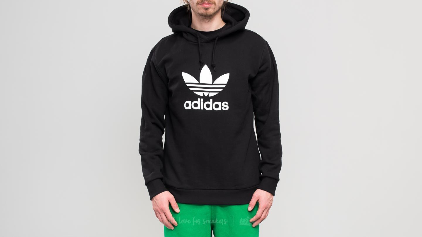 32db4be54a02 adidas Trefoil Warm-Up Hoodie Black