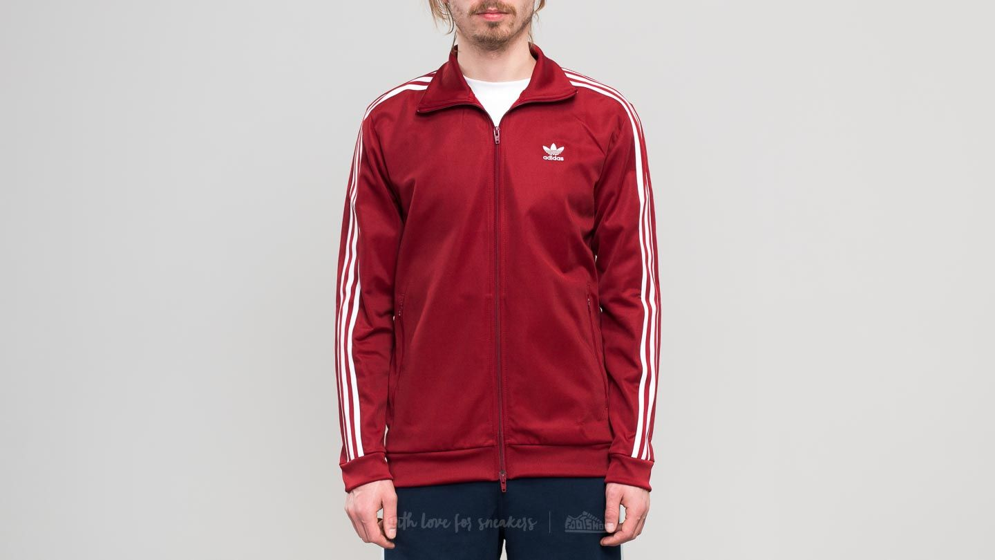 adidas Beckenbauer Track Top Rusted Red  1d0afda5e