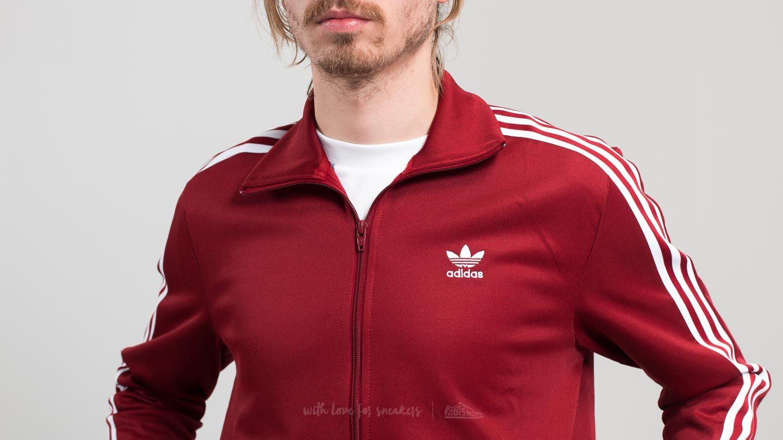 adidas beckenbauer jacke rust red