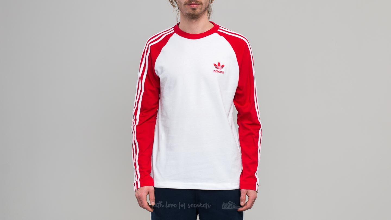 499743855aa9b adidas 3-Stripes Longsleeve Tee Scarlet | Footshop