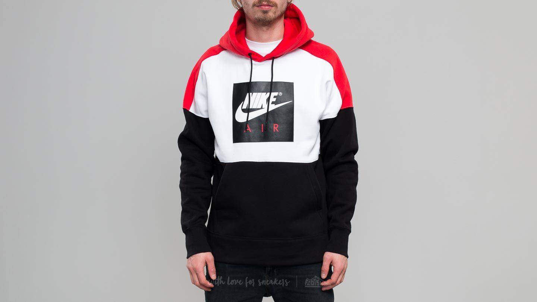 e394310e57 Nike Sportswear Fleece Pullover Hoodie White/ Red/ Black | Footshop