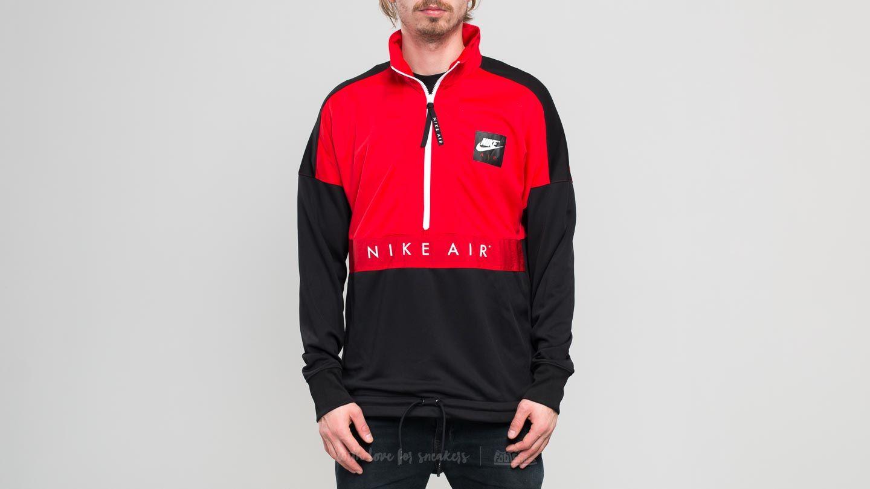3df1134f2 Nike Sporstwear Top Air Longsleeve Half-Zip Top. University Red/ Black/  White