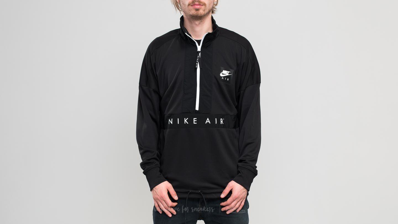 1d5e7ae2a Nike Sporstwear Top Air Longsleeve Half-Zip Top Black/ Black/ White ...