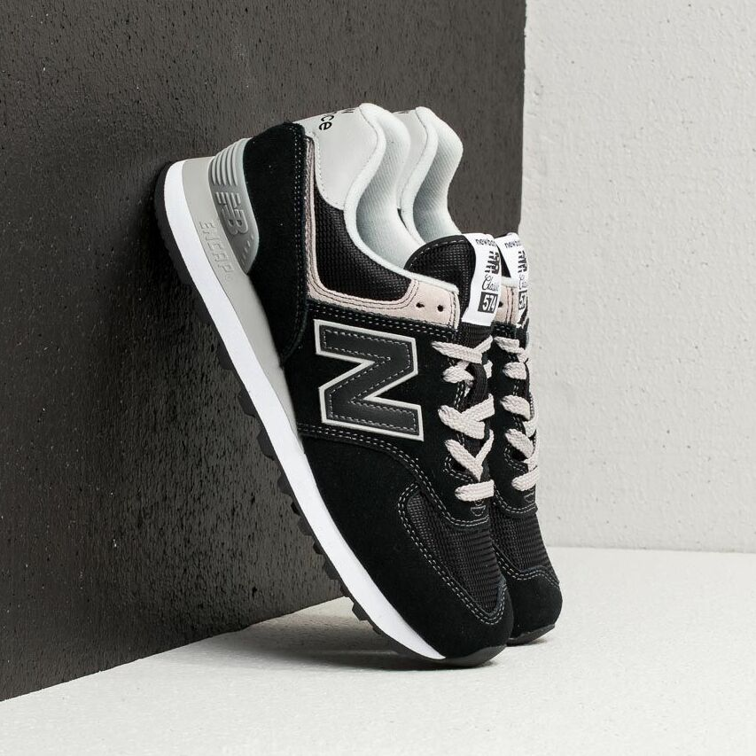 New Balance 574 Black/ White