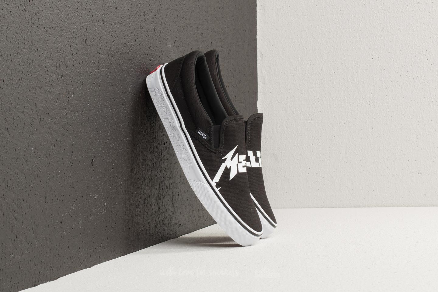 cb7073b9ba Vans Classic Slip-On (Metallica) Black  True White