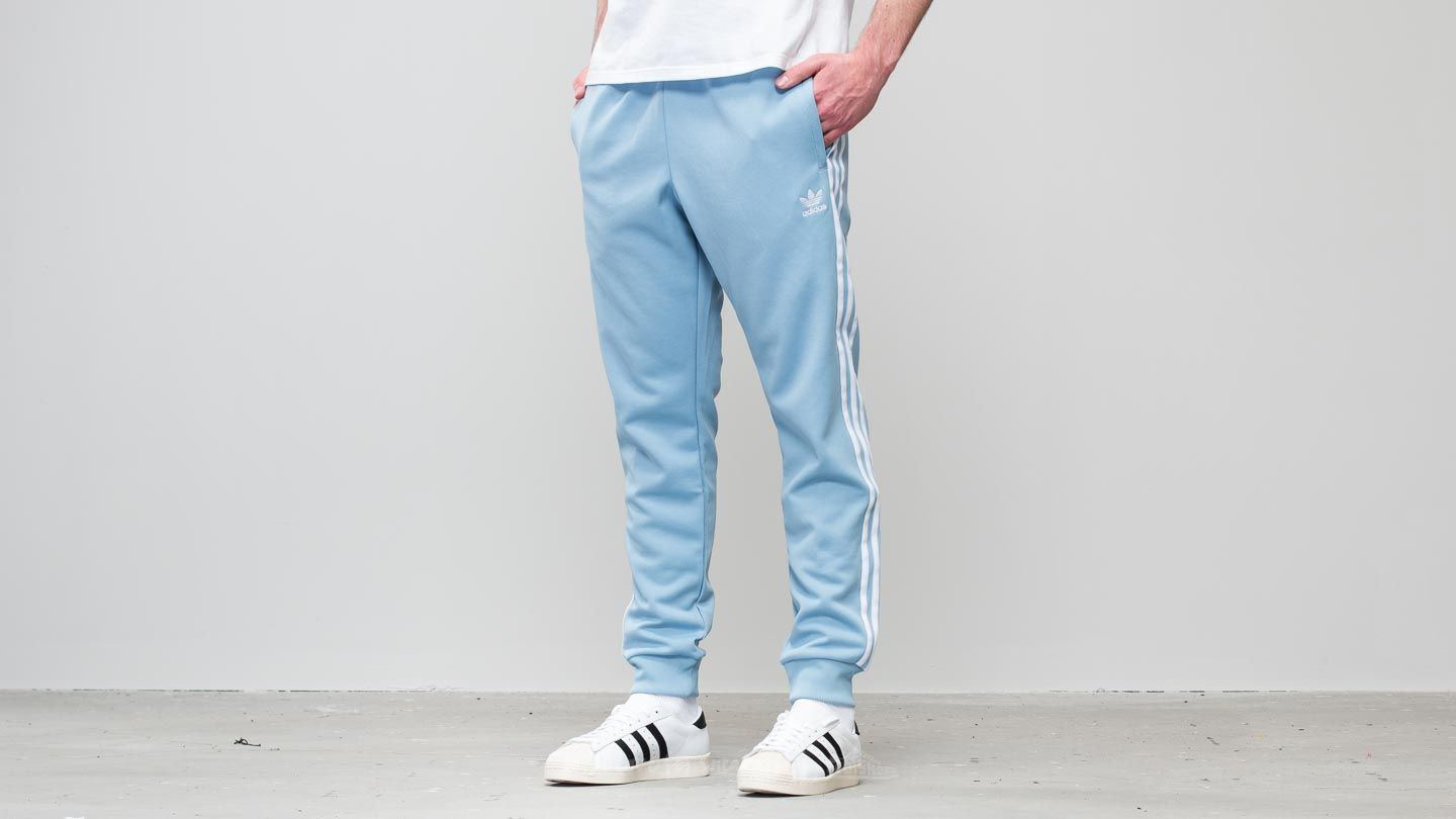 low priced ca379 25b79 adidas Superstar Track Pant Ash Blue