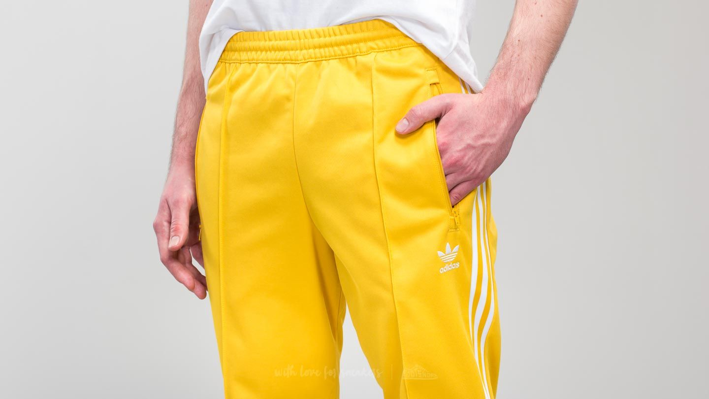 adidas Beckenbauer Track Pant Tribe Yellow | Footshop