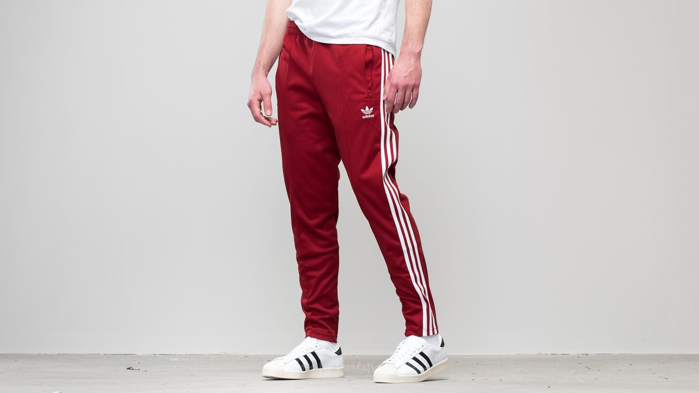 huge discount 795fc f93f4 adidas Beckenbauer Track Pant Rust Red