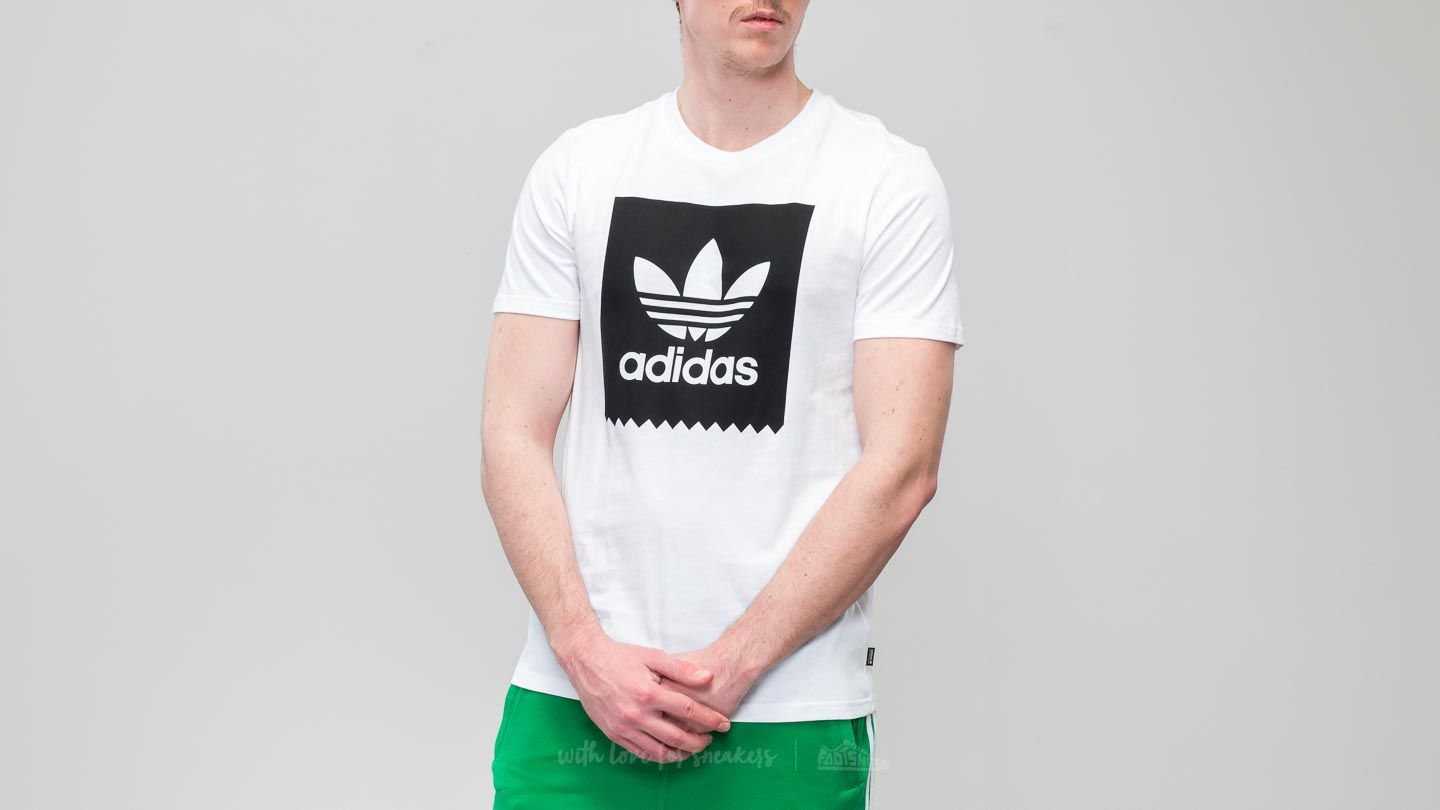 adidas Solid BB Tee White/ Black