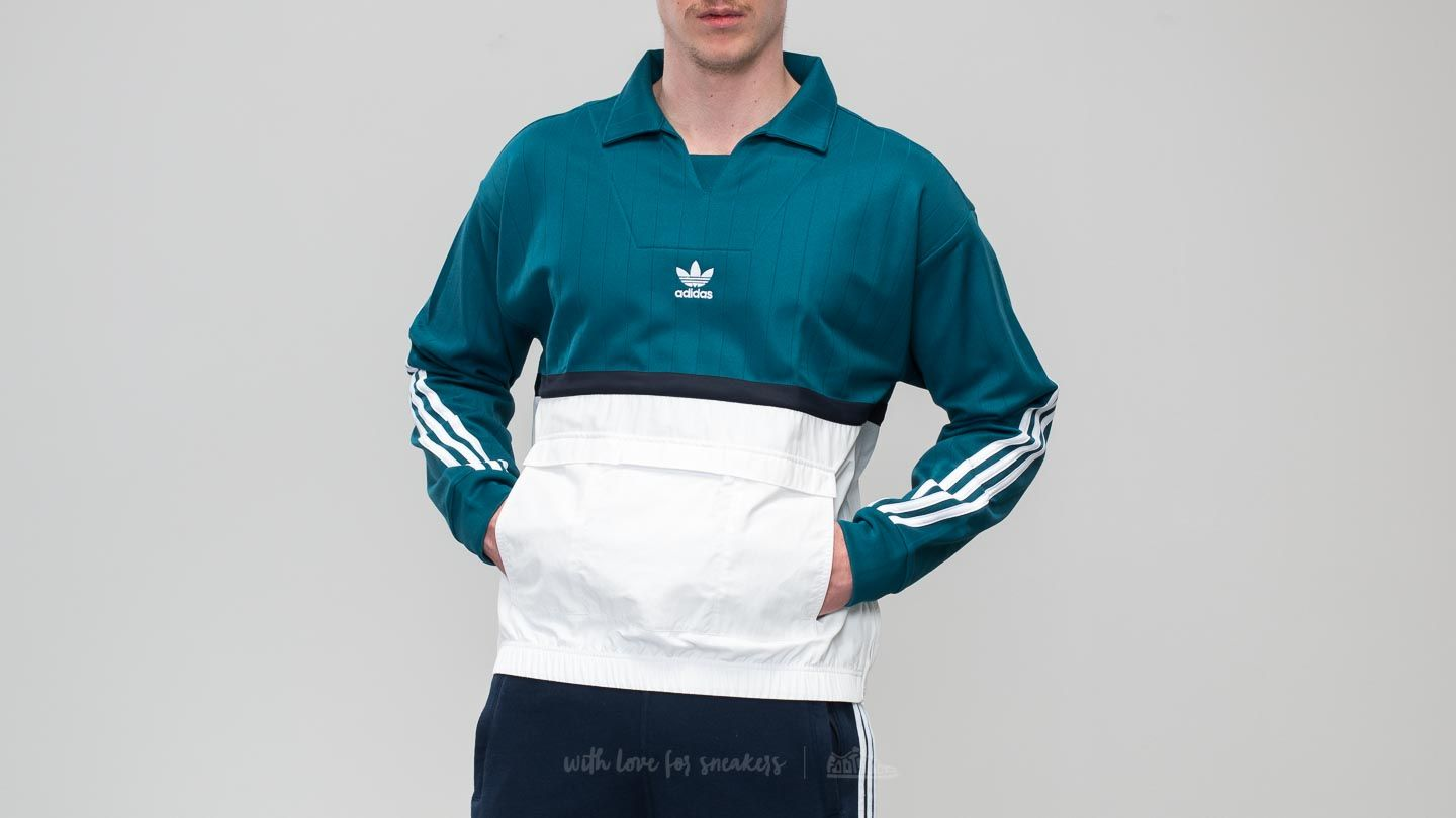 adidas Originals Drill Pullover Real TealWhite