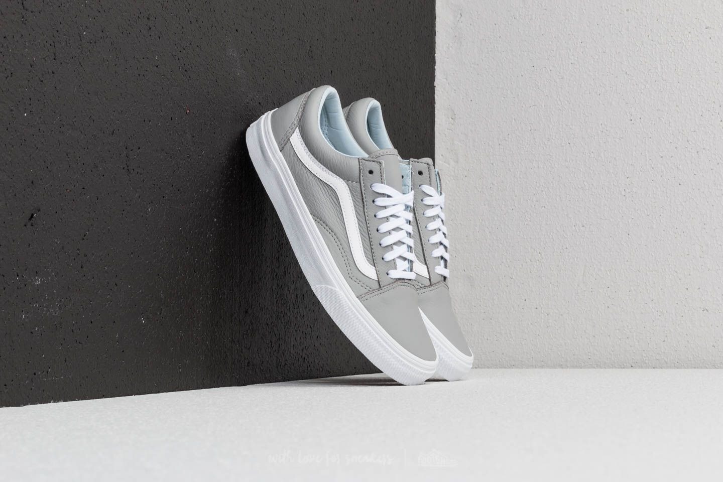 Vans Old Skool (Leather) Oxford  Drizzle  fcf9f9d42