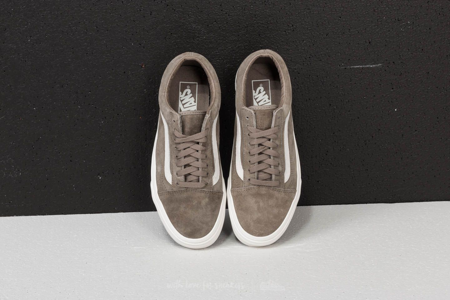 Vans Old Skool 'Pig Suede' Shoes Fallen RockBlanc