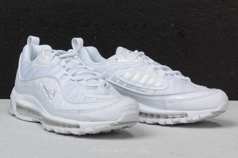 the best attitude 88047 b99c9 Nike Air Max 98 White/ Pure Platinum-Black-Reflect Silver ...