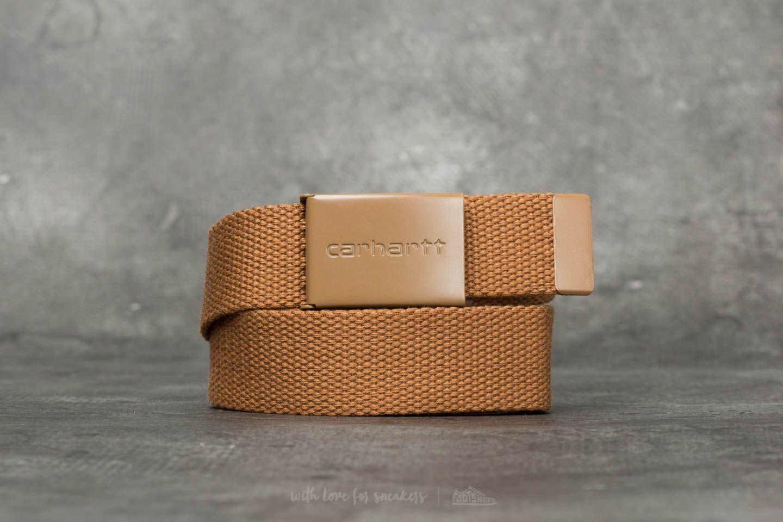 Carhartt WIP Clip Tonal Belt Hamilton Brown