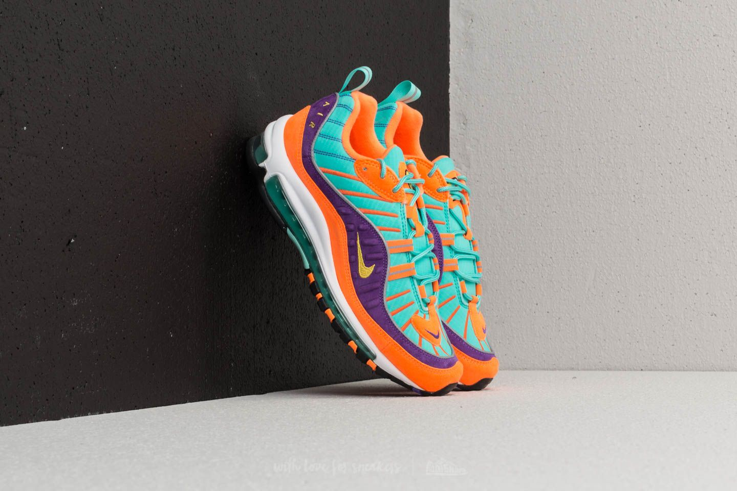 d367845aef24 Nike Air Max 98 QS Cone  Tour Yellow-Hyper Grape