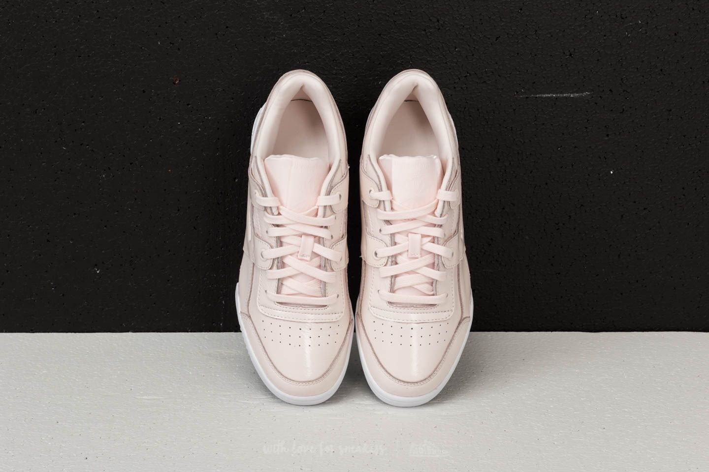 a9c7536880b07e Reebok Workout Lo Plus Iridescent Pale Pink  White at a great price £57 buy