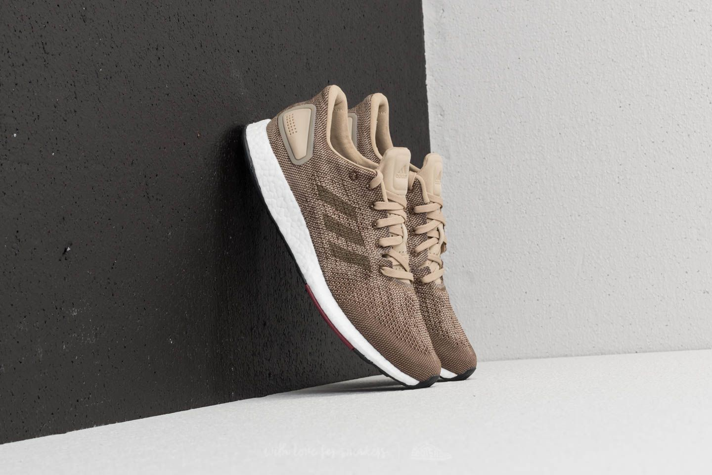 online store 12cde fe861 adidas Pureboost DPR Raw Gold Trace Olive Collegiate Burgundy at a great  price 69