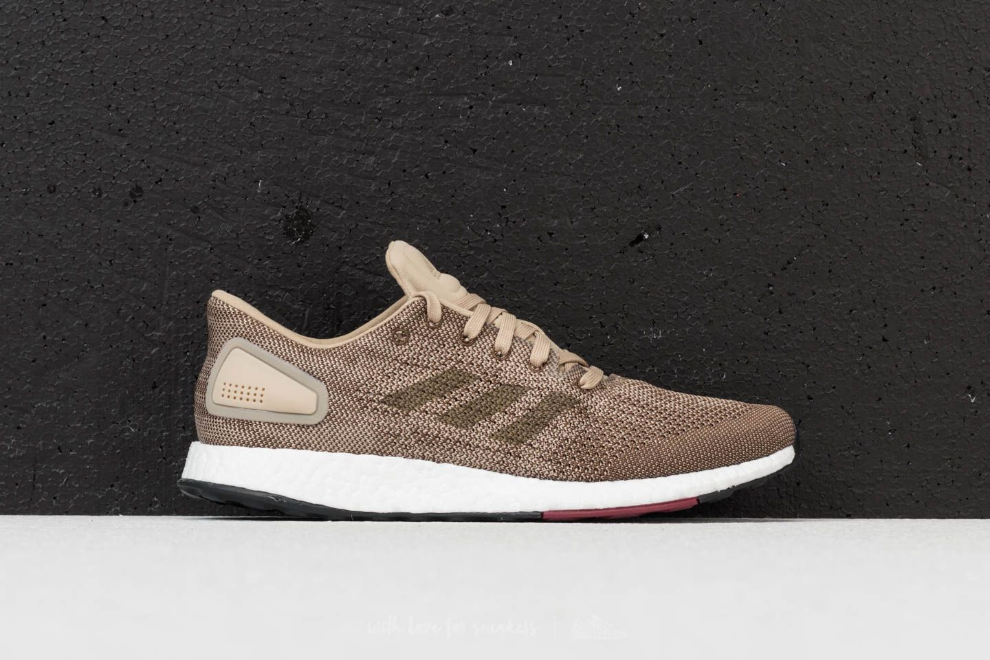 newest 56196 52c69 adidas Pureboost DPR Raw Gold Trace Olive Collegiate Burgundy at a great  price £