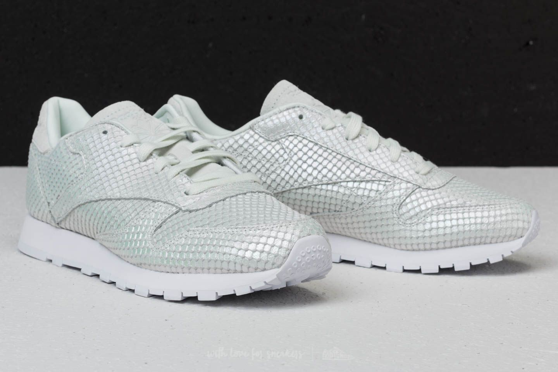 Textural Classic Grey White Leather IridesctFootshop Reebok Cloud N8v0mwn
