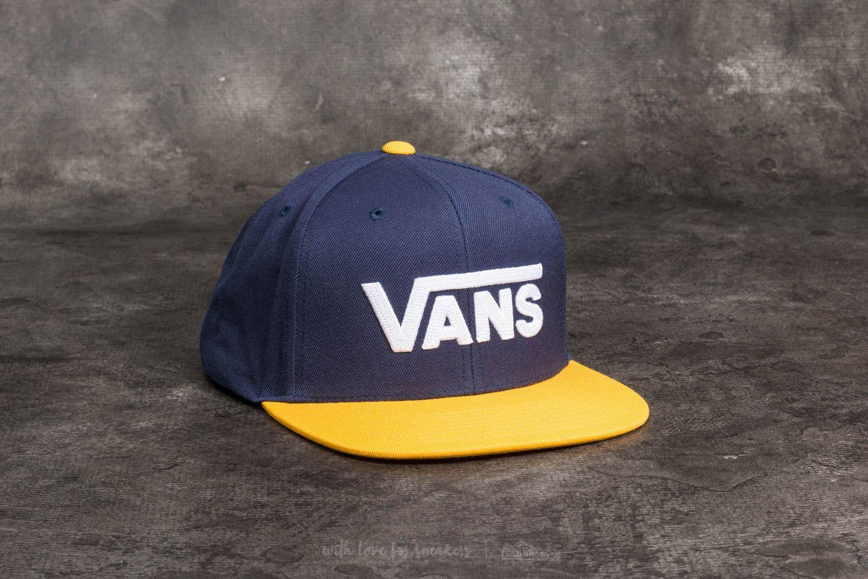 36f716587df3f Vans Drop V II Snapback Dress Blue  Old Gold