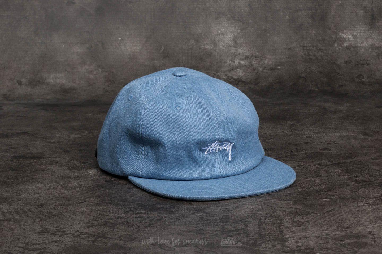 06e2116abec86 Stüssy Melange Denim Strapback Cap Blue at a great price 30 € buy at  Footshop