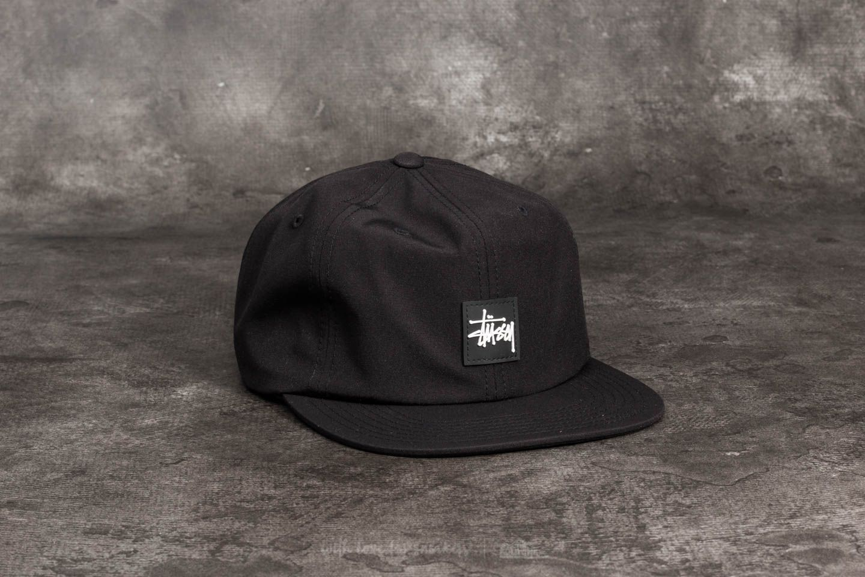 3a0485d81f8 Stüssy Stock Rubber Patch Cap Black