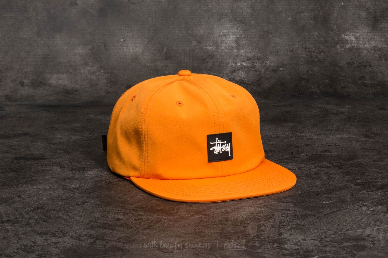Stüssy Stock Rubber Patch Cap Orange
