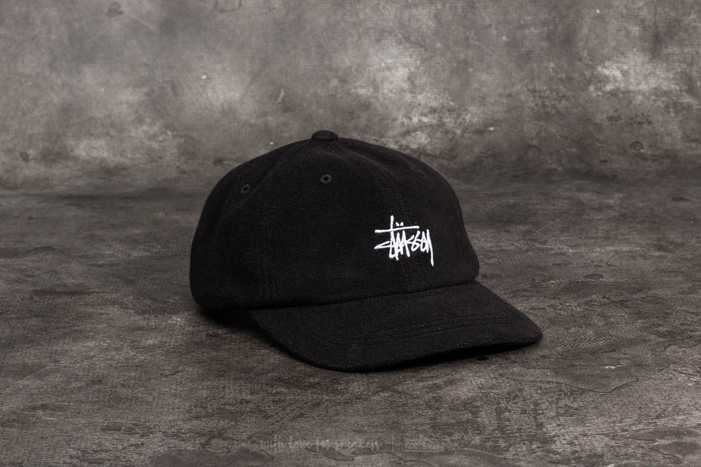 Stüssy Stock Terry Cloth Low Pro Cap Black 9ace40920be