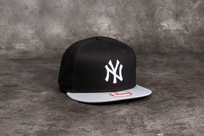 925acacb0e6 New Era 9Fifty MLB Cotton Block New York Yankees Cap Black  Grey  White