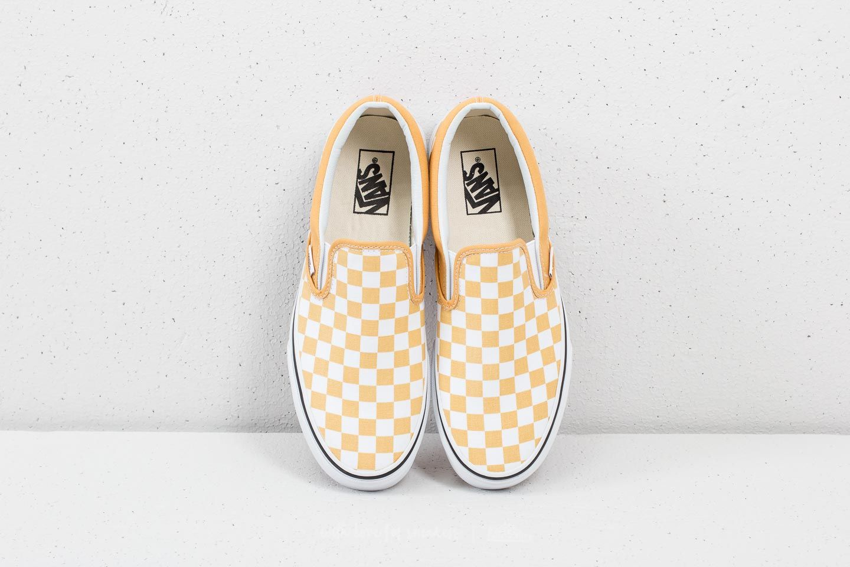 vans jaune checkerboard