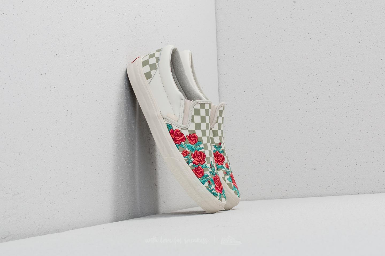 Slip Vans Drose On Classic EmbroideryMarshmallowFootshop kOnwP08X