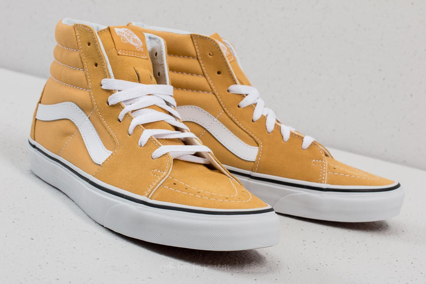Ochre White Montantes true Baskets Chaussures Homme Vans Sk8