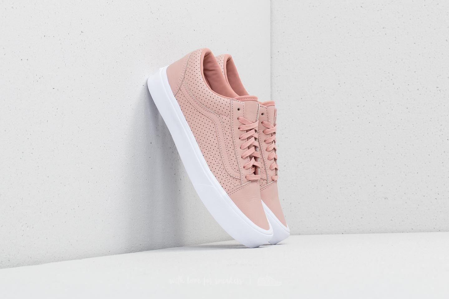 Vans Old Skool Lite (Perf) Blush Pink True White | Footshop
