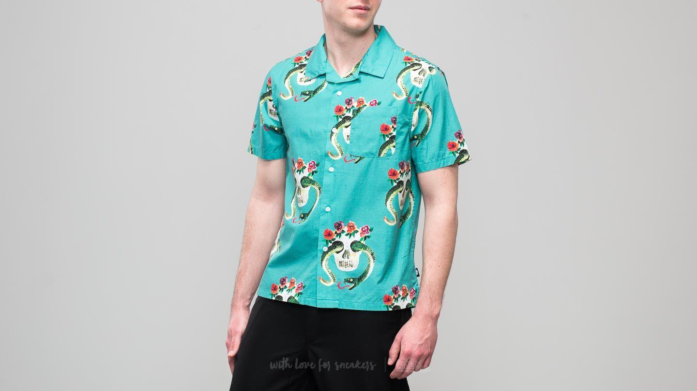 Stüssy Skull Pattern Shirt Teal
