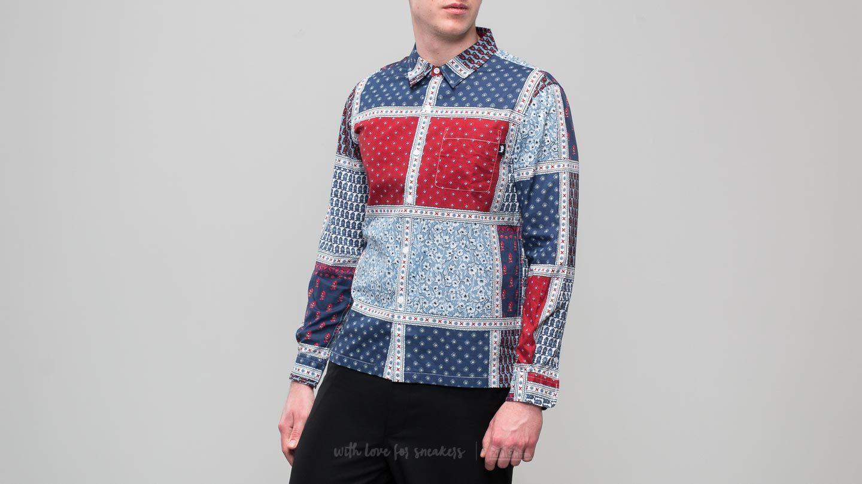 Stüssy Paisley Patchwork Longsleeve Shirt Blue