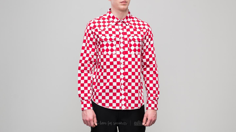 Stüssy Checker Western Longsleeve Shirt Red za skvělou cenu 1 600 Kč koupíte na Footshop.cz