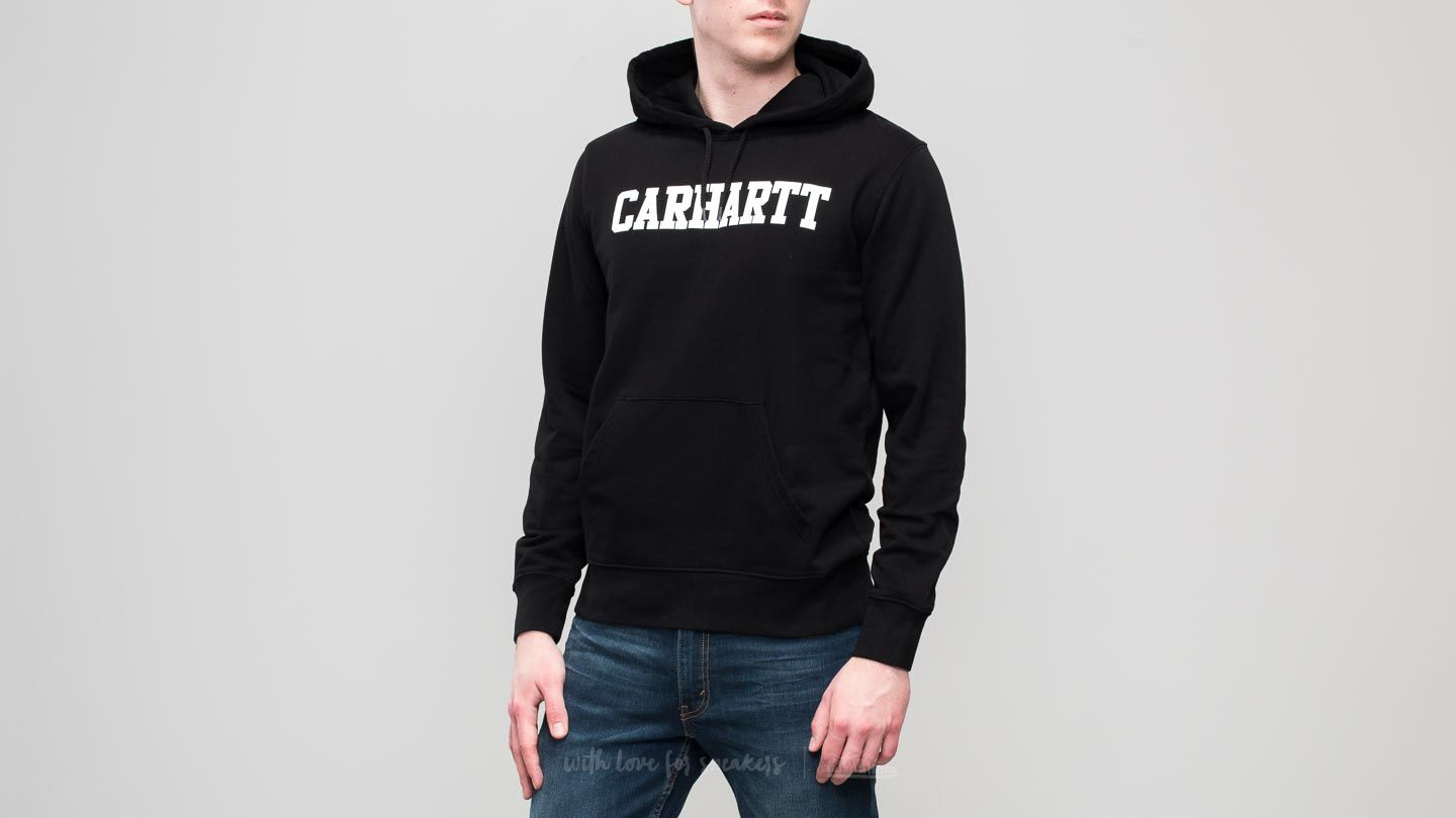 Jope in puloverji Carhartt WIP College Hoodie Black/ White