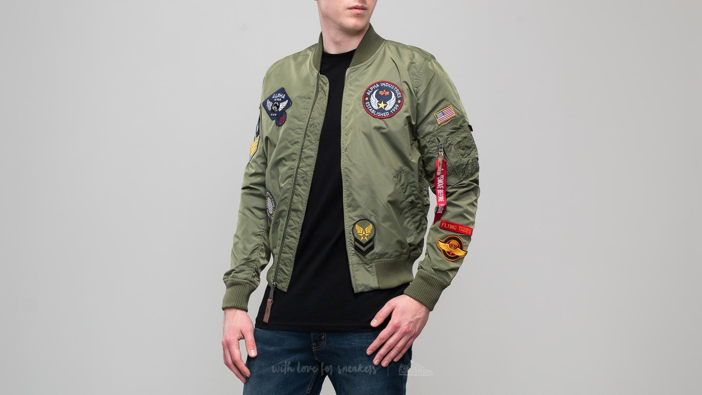 Alpha Industries MA-1 TT Patch II Sage Green  9f32af6328b
