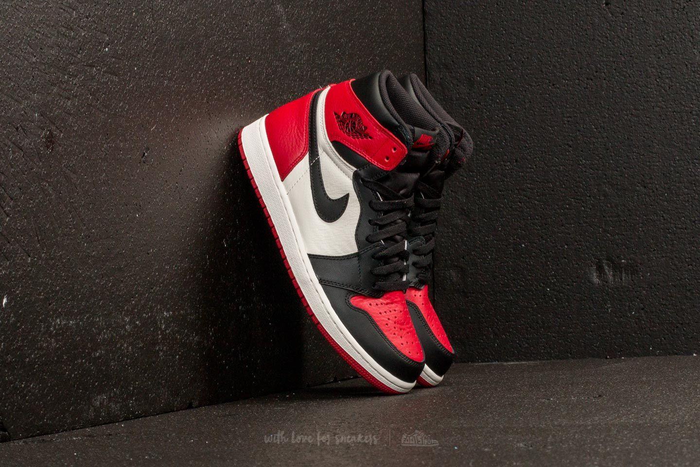"Air Jordan 1 Retro High OG BG ""Bred Toe"" Gym Red Black Summit White | Footshop"