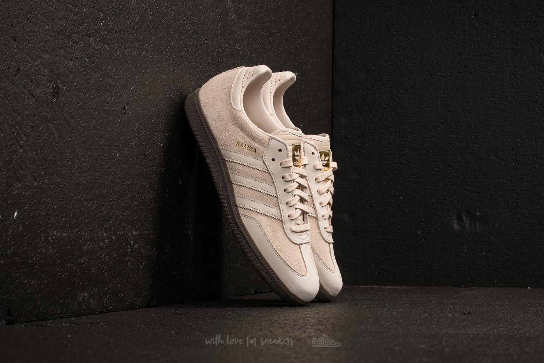 adidas Samba FB Linen/ Linen/ Gold Metallic