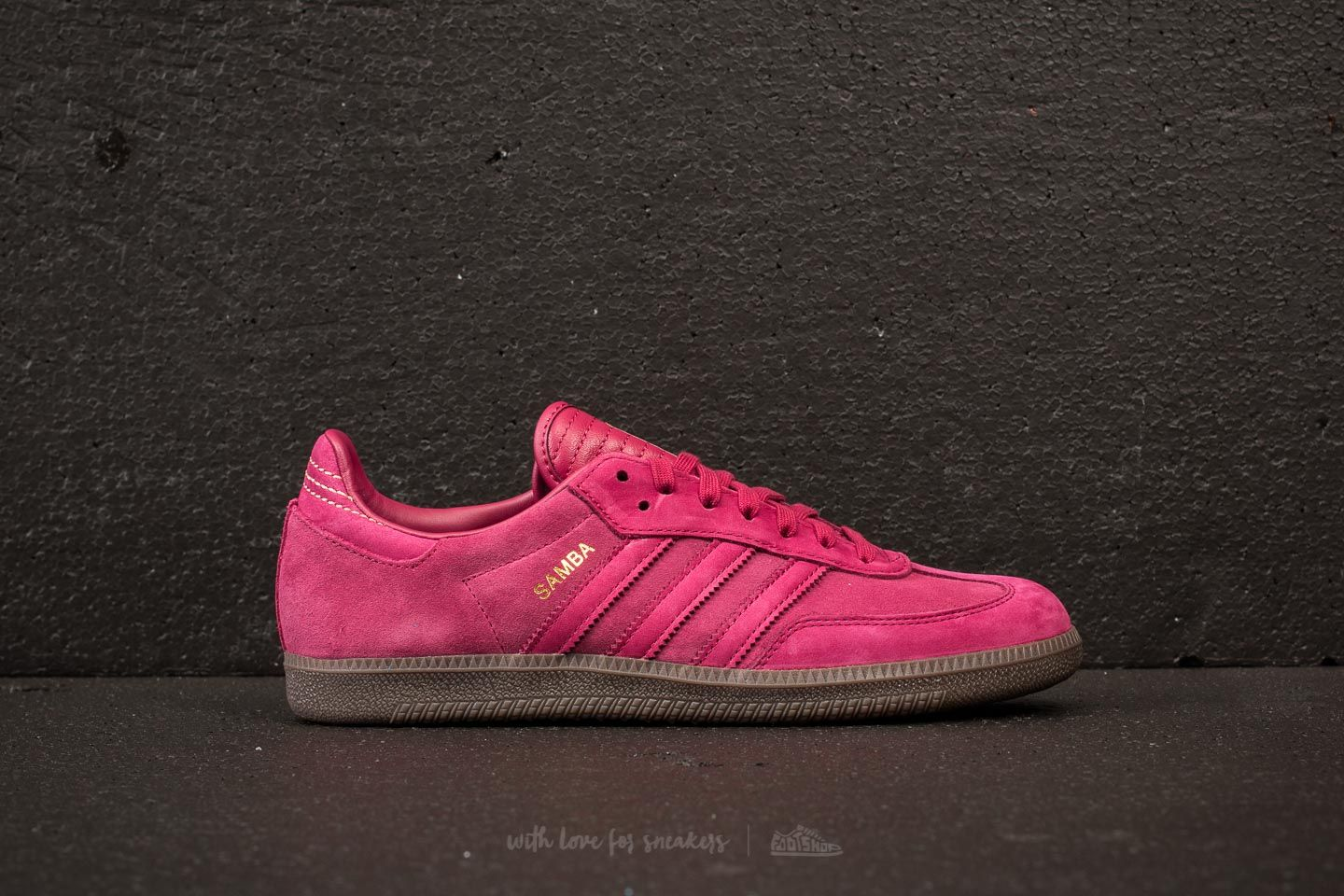 buffet Fácil de comprender arrastrar  Men's shoes adidas Samba FB Mystery Ruby/ Mystery Ruby/ Gold Metallic