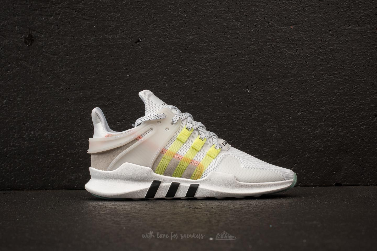 sports shoes 29fed e0a3b adidas EQT Support ADV W Ftw White Semi Frozen Yellow Core Black at a