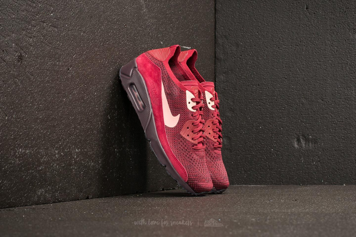 399fcd53ef79 Nike Air Max 90 Ultra 2.0 Flyknit Team Red  Rust Pink