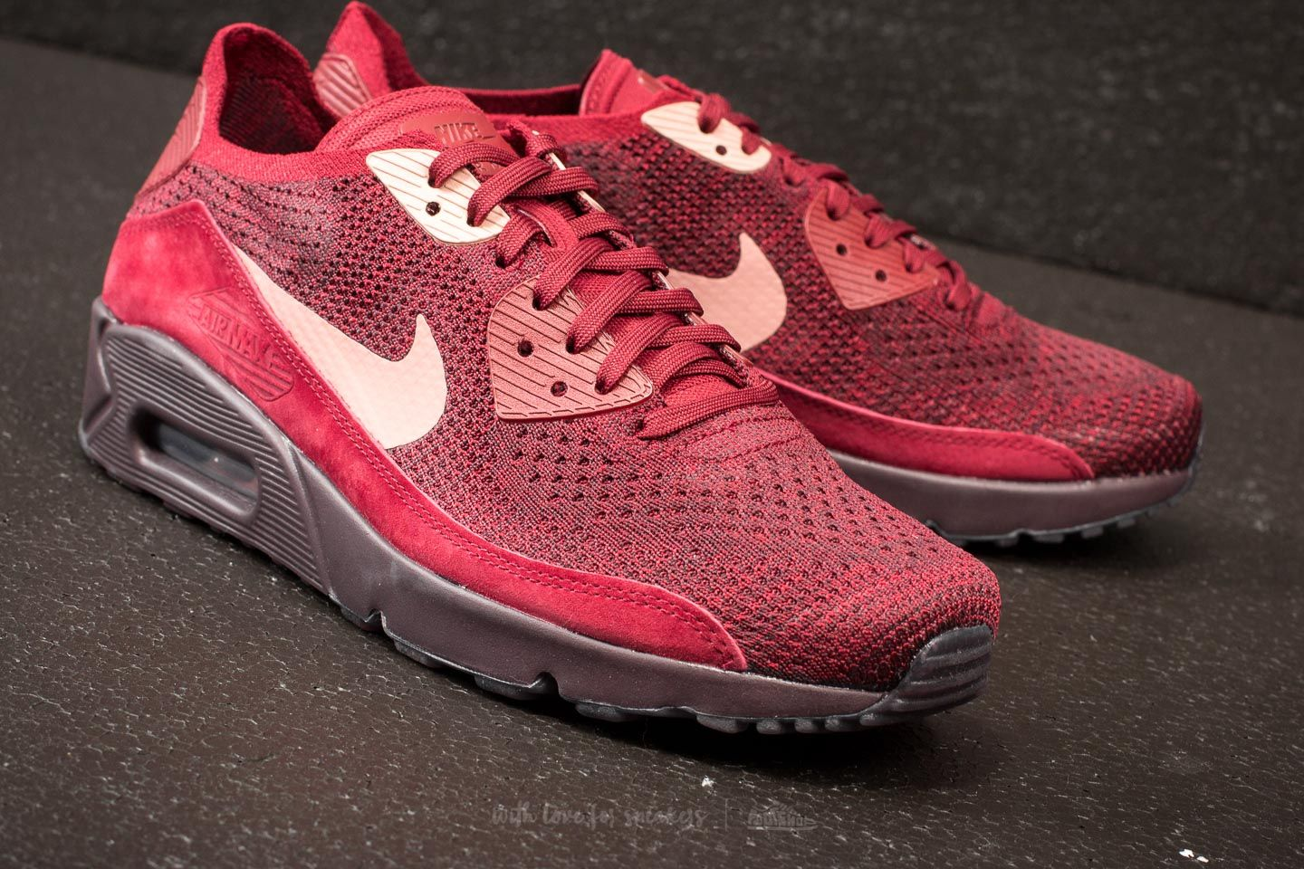Nike Air Max 90 Ultra 2.0 Flyknit Team Red Rust Pink | Footshop