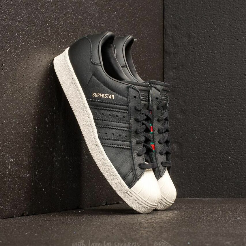 adidas Superstar 80s Core Black/ Green/ Red EUR 48